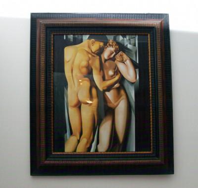 "hand painted copy of ""Tamara De Lempicka"""
