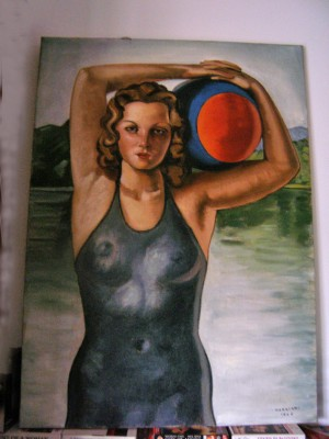 "hand painted copy of ""Gabbiani"" 40s"