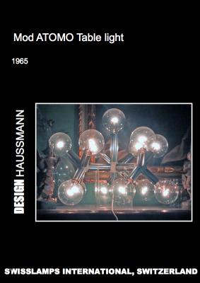 Lampada da tavolo Atomo anni '60