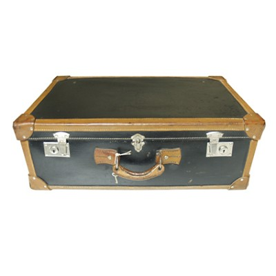 Vintage suitcase in cardboard and leather