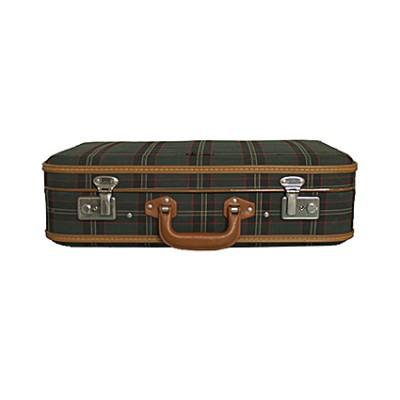 Vintage plaid suitcase