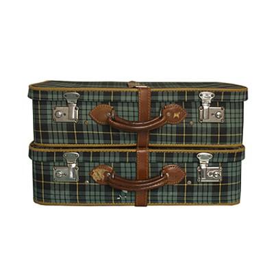 Vintage tartan suitcase