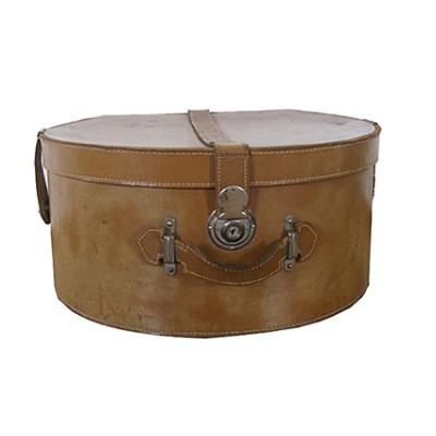 Vintage leather hatbox