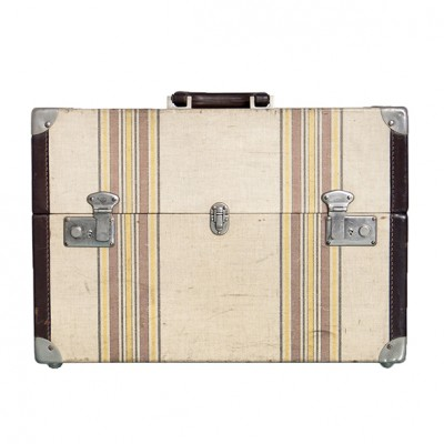 vintage edged  luggage with strips