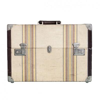 valigia squadrata vintage con righe