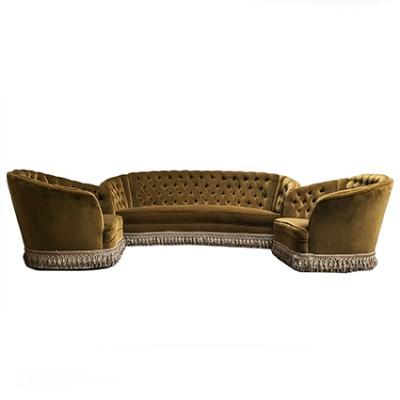 divano e poltrone vintage capitonnè